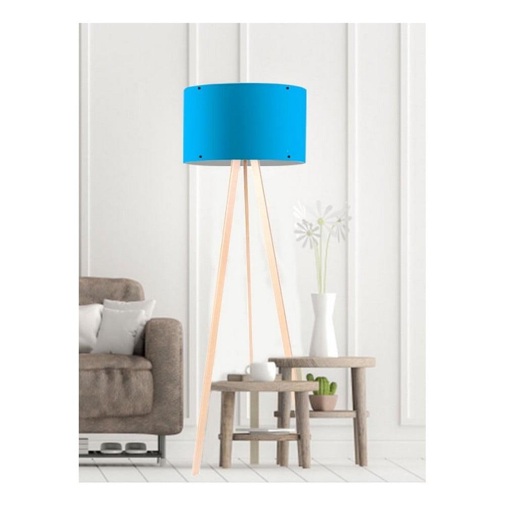 Niebieska lampa stojąca Simple