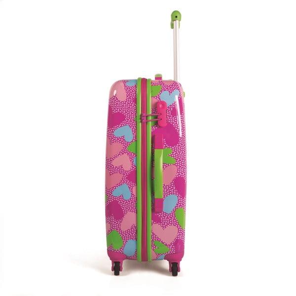 Zestaw 2 walizek Agatha, różowy