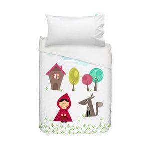 Bawełniana pościel dziecięca z poszewką na poduszkę Mr. Fox Grandma, 100x120 cm