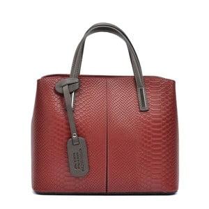 Czerwona skórzana torebka Roberta M Cecilio