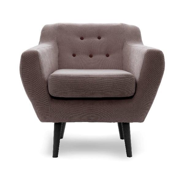 Fotel VIVONITA Kelly Light Brown, czarne nogi
