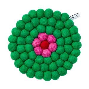 Wełniana podkładka Trivet Green, 17 cm