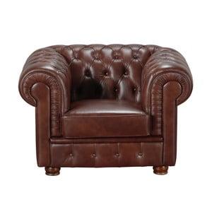 Brązowy fotel skórzany Max Winzer Bridgeport