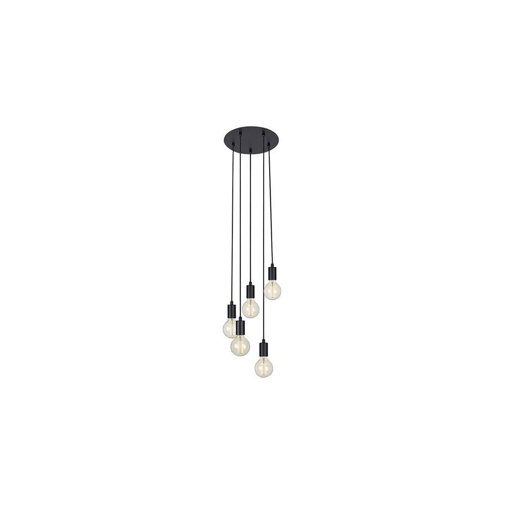 Czarna lampa wisząca Markslöjd Sky, ø 32 cm