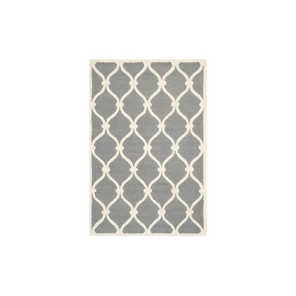 Wełniany dywan Hugo 91x152 cm, szary