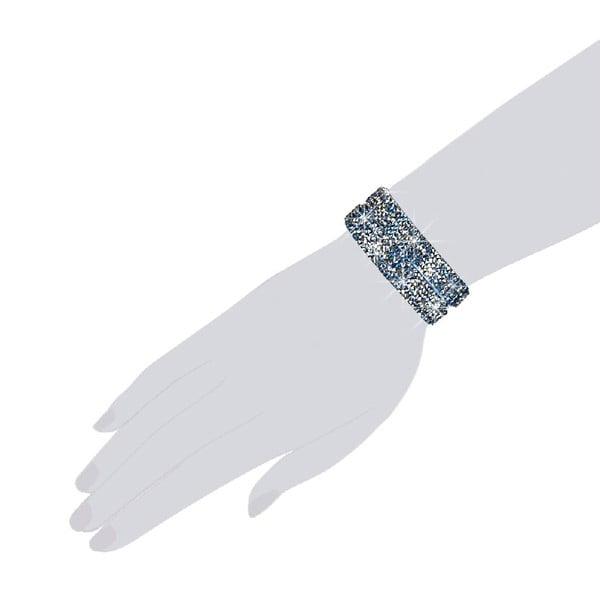 Bransoletka Blue Shine, 42 cm
