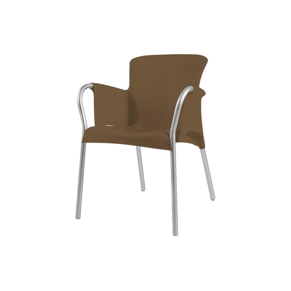 Zestaw 4 brązowych foteli ogrodowych Resol Oh!