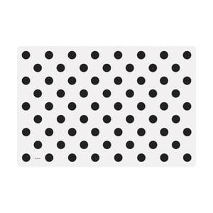Zestaw 4 mat kuchennych Big Black Dots
