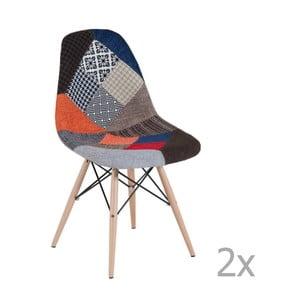 Zestaw 2 patchworkowych krzeseł Castagnetti Arle