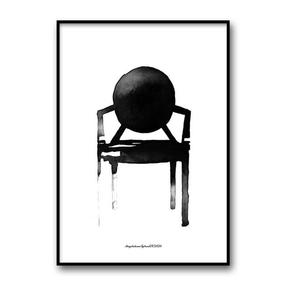 Plakat autorski Chair Ghost, 30x40 cm