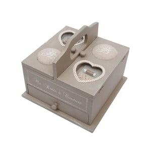Drewniane pudełko na przybory do szycia Antic Line Couture