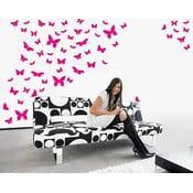 Naklejka Wallvinil Motyli raj, różowa