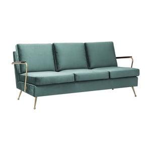 Zielona sofa trzyosobowa Kare Design Gamble