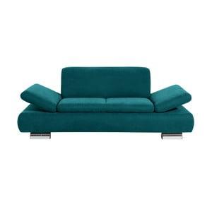 Niebieska sofa dwuosobowa z regulowanymi podłokietnikami Max Winzer Terrence Anderson