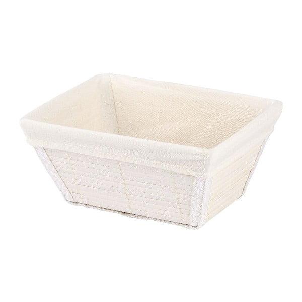 Biały koszyk Wenko Bamboo, szer. 19,5cm