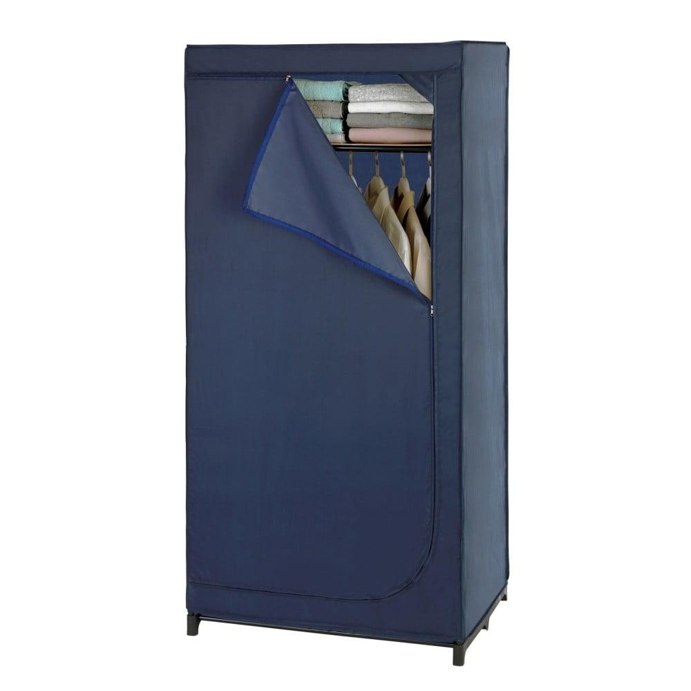 Niebieska materiałowa szafa Wenko Business, wys. 160 cm