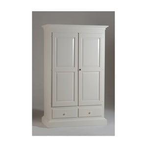Biała dwudrzwiowa szafa drewniana Castagnetti