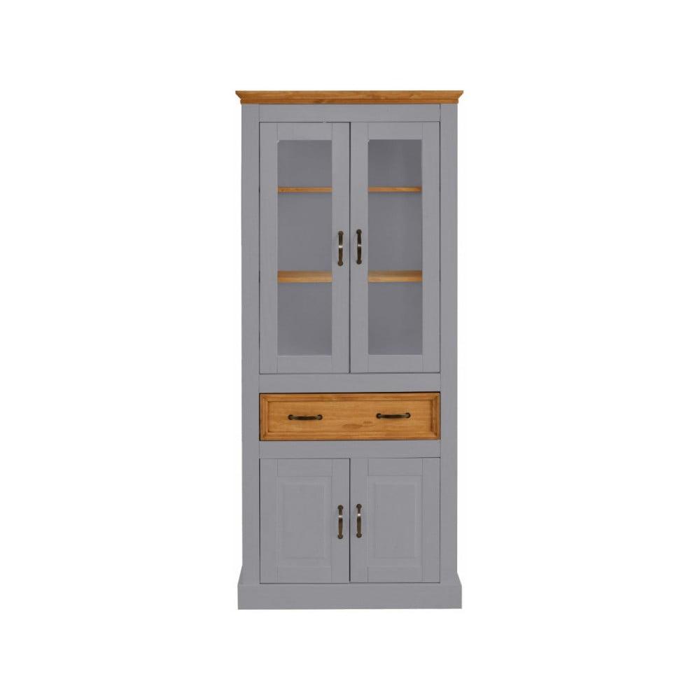 Szara witryna 4-drzwiowa z litej sosny Støraa Suzie