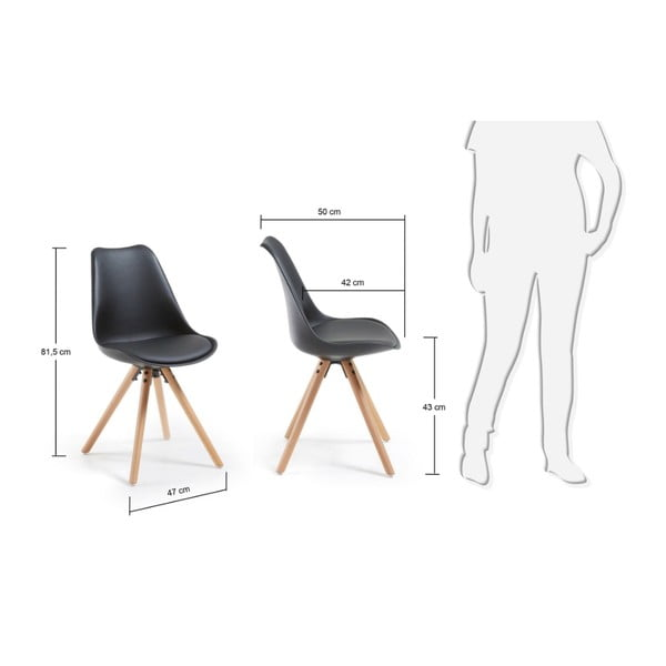 Krzesło Lars, czarne