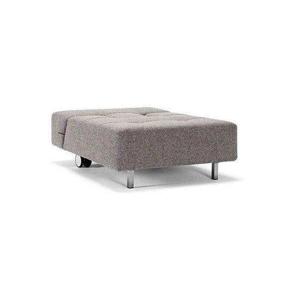Szary rozkładany fotel Innovation Long Horn Twist Granite
