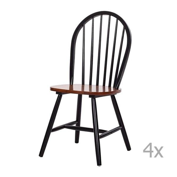 Zestaw 4 drewnianych krzeseł 13Casa Portofino