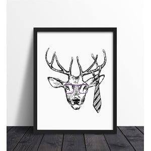 Plakat w ramie Hipster Deer, 30x40 cm