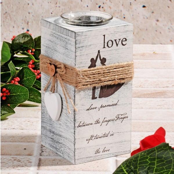 Drewniany świecznik Pure Love