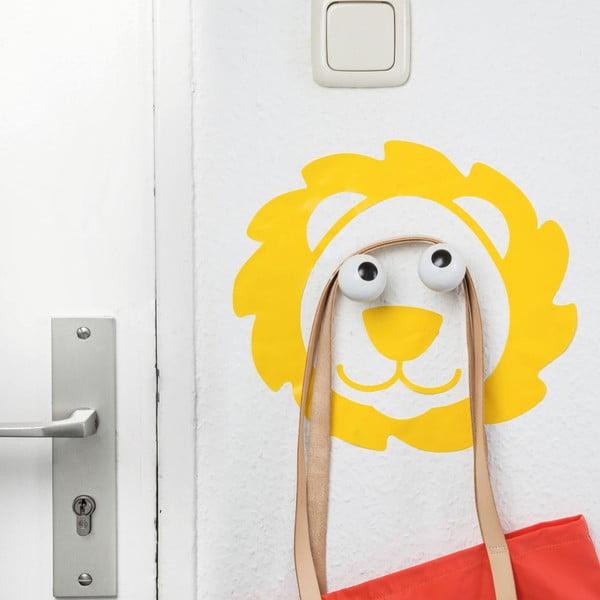 Haczyk dekoracyjny z naklejką na ściane Donkey Creative Lab Leo Look