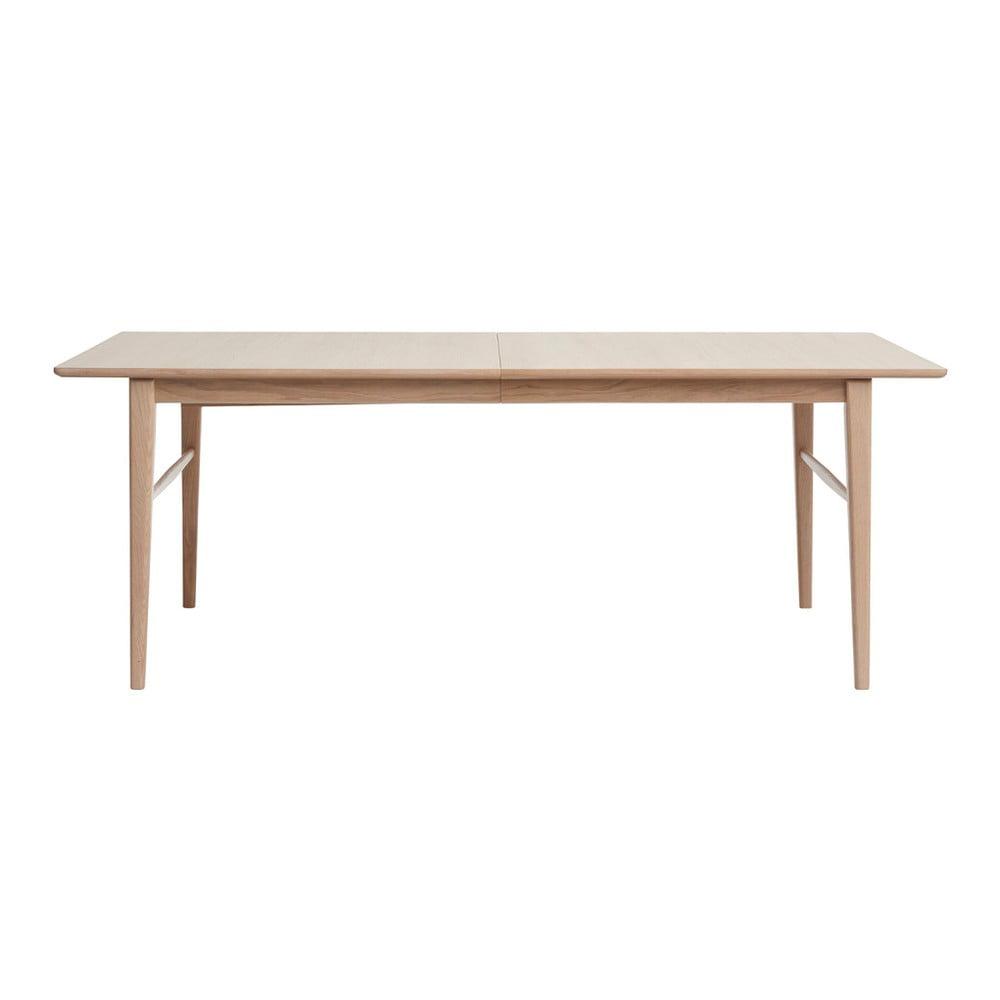 Stół rozkładany z drewna białego dębu Unique Furniture Rocca, 90x170/260 cm