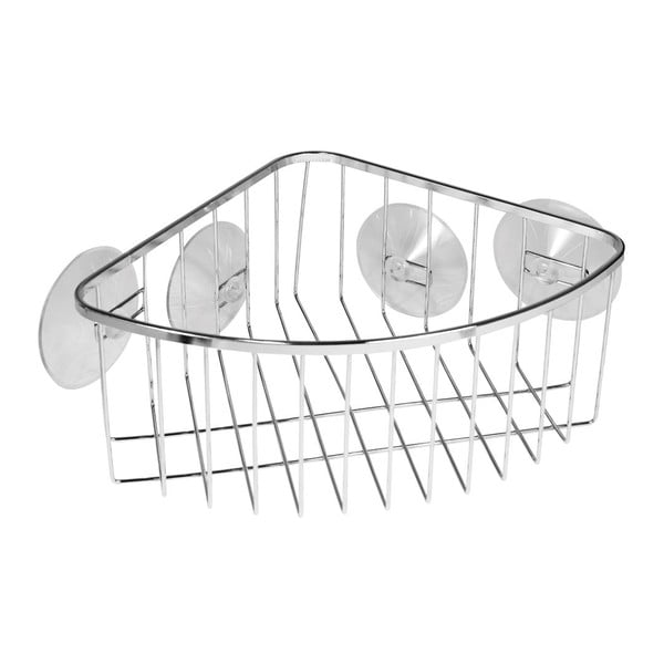 Metalowy koszyk z przyssawką Corner Gia