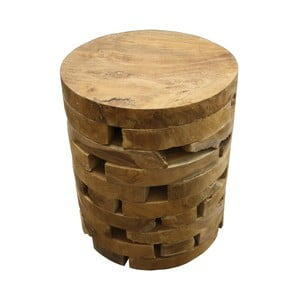 Stołek z drewna tekowego HSM Collection Arange