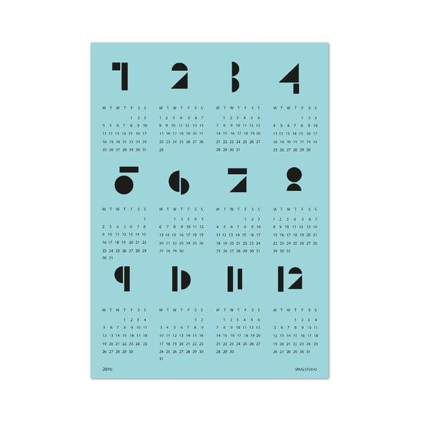 Kalendarz ścienny SNUG.Toy 2016, niebieski