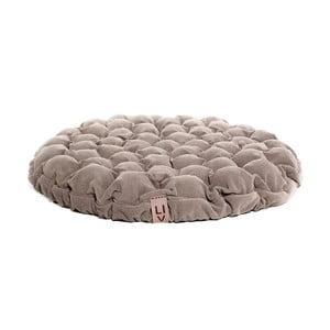 Beżowa poduszka do siedzenia wypełniona piłeczkami do masażu Lindy Vrňáková Bloom, Ø 75 cm