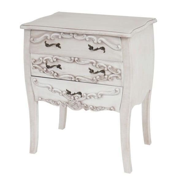 Szafka z 3 szufladami Baroque White Antique