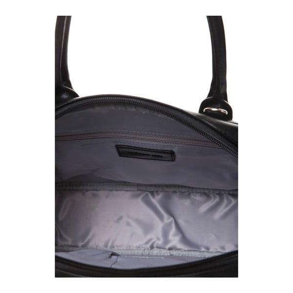 Skórzana torebka do ręki Marta Ponti Handy, czarna