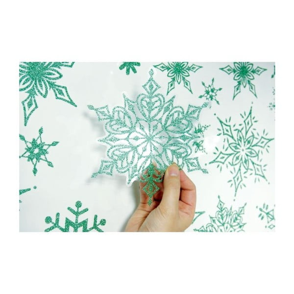 Naklejka 30 Christmas Green Flakes