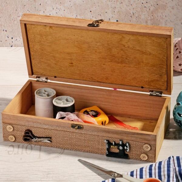 Drewniane pudełko na nici Naturo