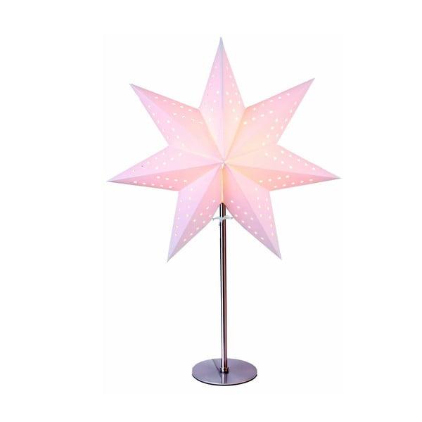 Gwiazda świecąca ze stojakiem Best Season Bobo Beige, 50 cm