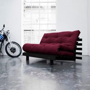Sofa rozkładana Karup Roots Wenge/Bordeaux