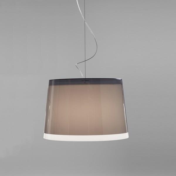Lampa sufitowa Pedrali L001S/BB, szara półprzeźroczysta