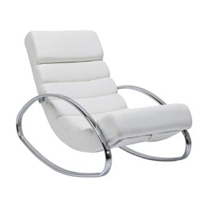 Biały fotel na biegunach Kare Design Manhattan