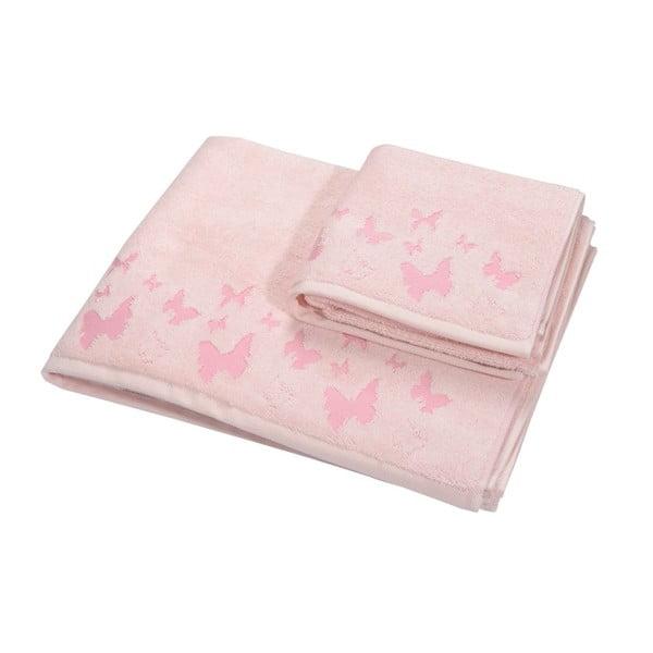 Komplet 2 ręczników Papilon Rase