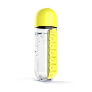 Butelka z pojemnikiem na leki In Style Yellow