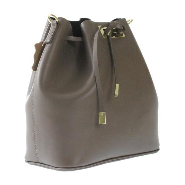 Brązowo-szara skórzana torba Erica