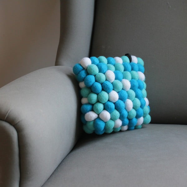 Ręcznie wykonana kulkowa poduszka Pastel Mint