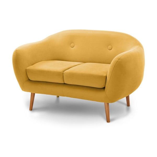 Ciemnożółta sofa 2-sobowa Scandi by Stella Cadente Maison