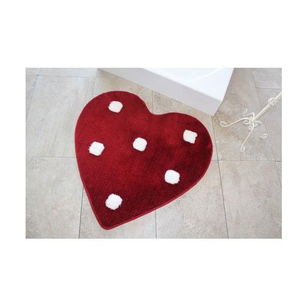 Dywanik łazienkowy Alessia Poni Red, Ø 90 cm