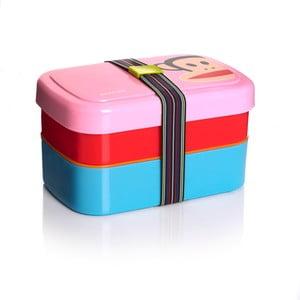 Dwupoziomowe pudełko śniadaniowe, różowe