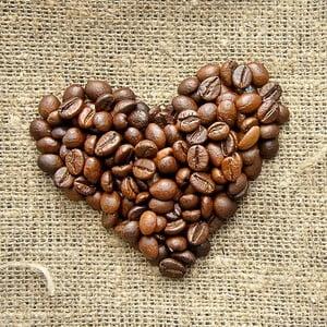 Obraz Serduszko z kawy, 28x28 cm