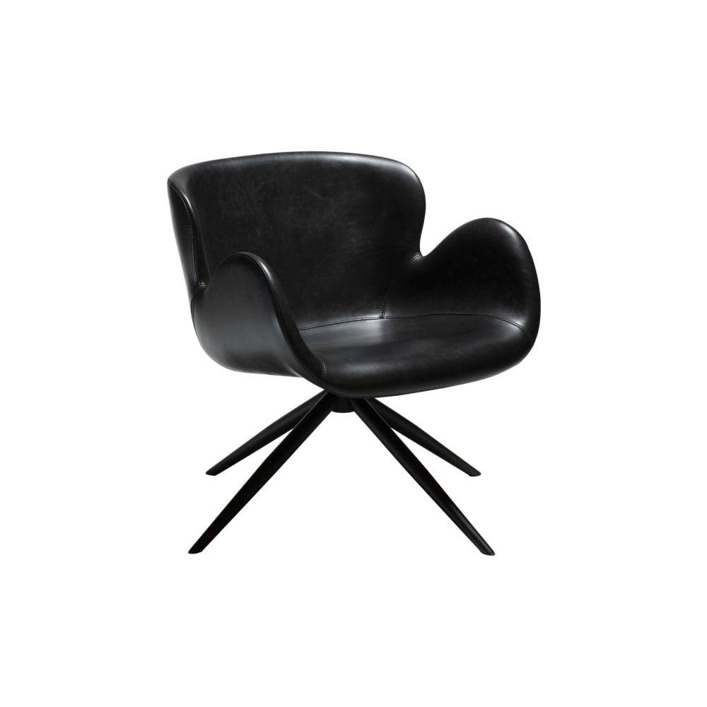 Czarny fotel ze skóry ekologicznej DAN-FORM Denmark Gaia